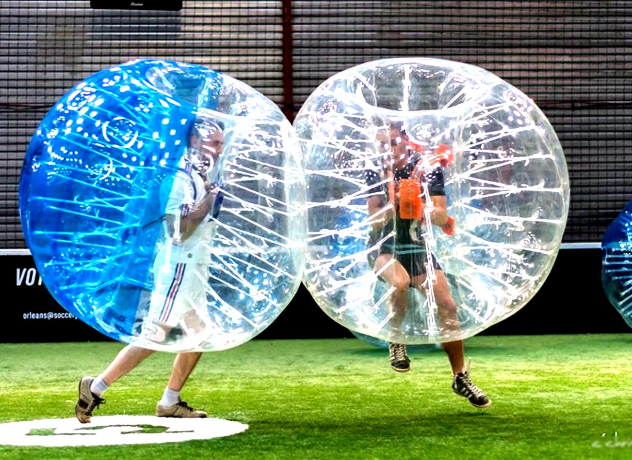 foot bulle à bruxelles bubble bump zorb football activités vimigo