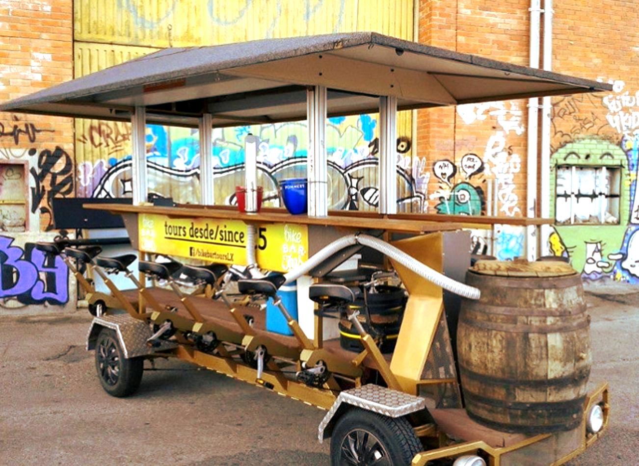 beer bike à lisbonne bières vimigo activites