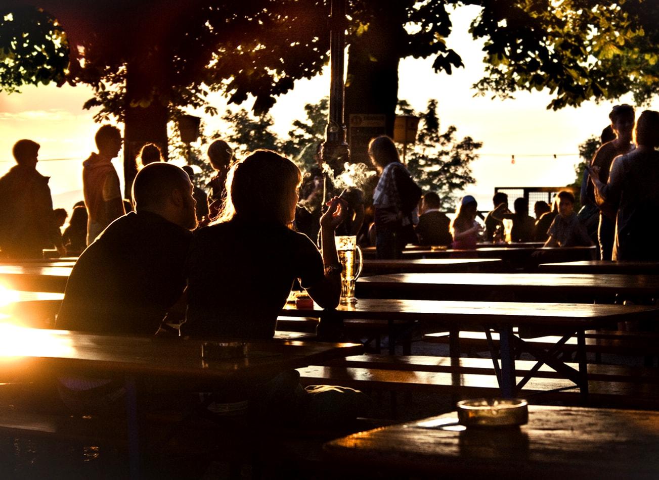 soirée au biergarden munich activites vimigo